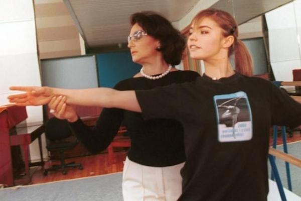 Ирина Виннер со своей ученицей Алиной Кабаевой