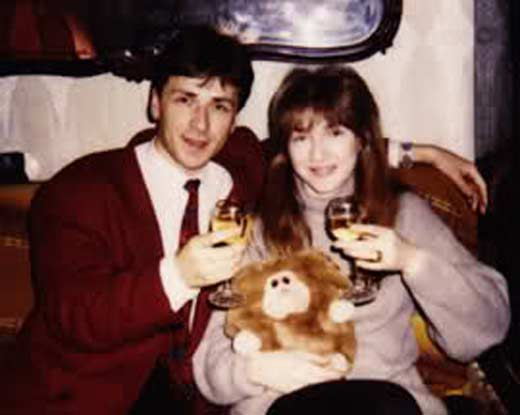 На фото: певица Екатерина Семенова и ее первый муж Андрей Батурин