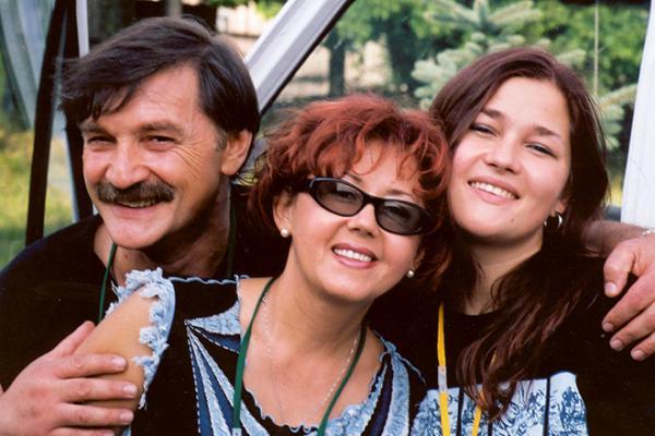 Ядвига Поплавская, Александр Тиханович с дочерью Анастасией